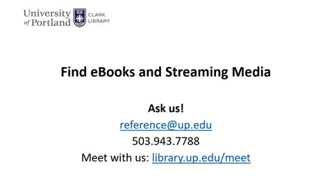 Thumbnail for entry Access the Clark Library's Online Resources