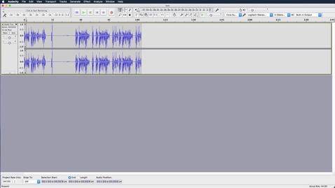 Thumbnail for entry Audacity on Mac - Controls & Basic Editing
