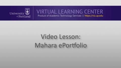 Thumbnail for entry Mahara ePortfolio: Building an ePortfolio Page pt 1