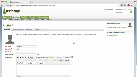 Thumbnail for entry Adding Your Content to Mahara