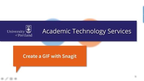 Make an Animated GIF With Snagit