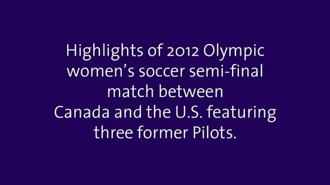 2012 Olympic former Pilots Canada vs US highlights