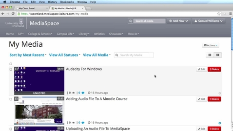Publish video to a channel in MediaSpace