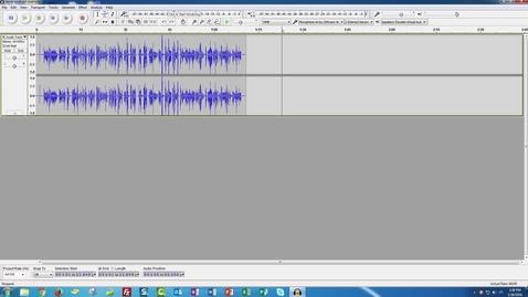 Thumbnail for entry Audacity on Windows - Basic Editing