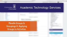 Thumbnail for entry Moodle Groups & Groupings II: Using Groups in Activities