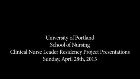 Thumbnail for entry CNL Student Residency Presentation - Schafer