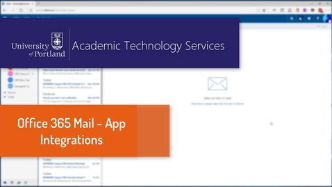 Thumbnail for entry Office 365 Mail - Adding Apps