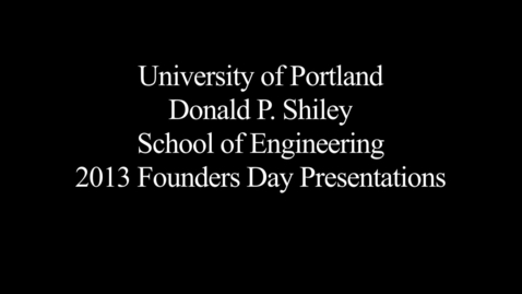 Thumbnail for entry 2013 - Founders Day