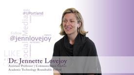 Thumbnail for entry ATR Fellow Dr. Jennette Lovejoy - Assistant Professor in Communication Studies