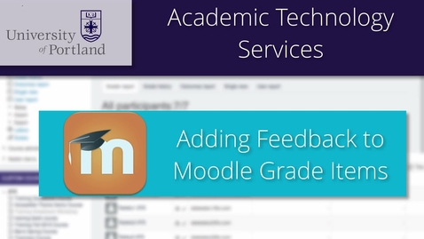 Add Feedback to a Grade in Moodle