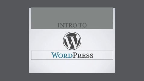 Thumbnail for entry What is Wordpress?