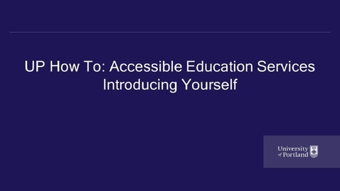Thumbnail for entry Introducing Yourself to Faculty