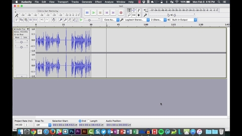 Thumbnail for entry Audacity on Mac - Export to mp3