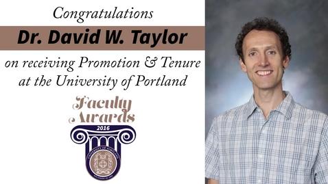 Thumbnail for entry Dr. David W. Taylor