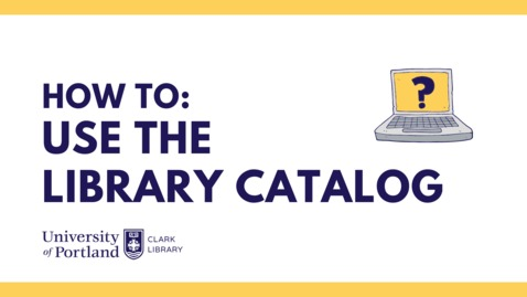 Thumbnail for entry UP Library Search Intro
