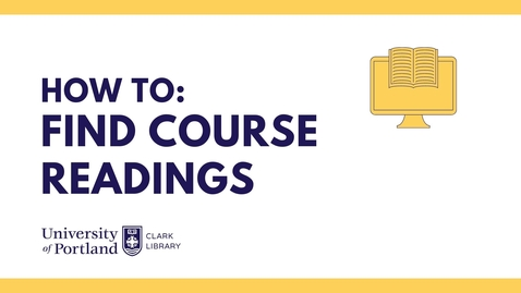 Thumbnail for entry How to Find Course Readings