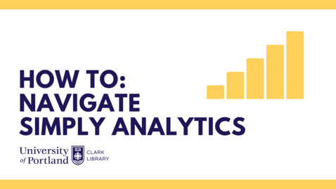 Thumbnail for entry How To Navigate Simply Analytics