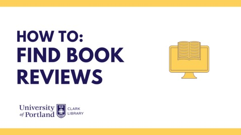 Thumbnail for entry How to: Find Book Reviews