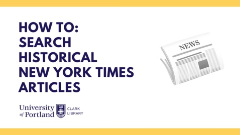 Thumbnail for entry Searching Historical New York Times Articles
