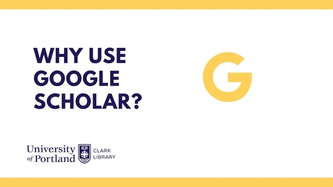 Thumbnail for entry Why use Google Scholar?