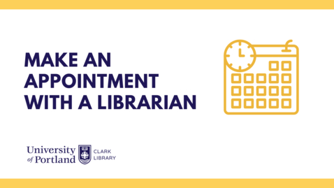 Thumbnail for entry Make an Appointment With a Librarian