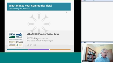Thumbnail for entry USDA RD Training Series -Webinar #1 What Makes your Community Tick?