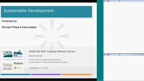 Thumbnail for entry USDA RD Training Series-Webinar # 7 - Sustainable Development