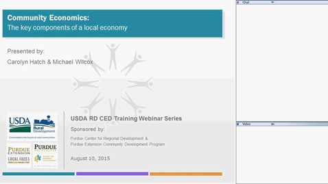 Thumbnail for entry USDA RD Training Series - Webinar #3  Community Economics