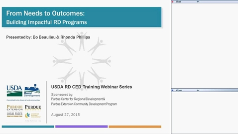 Thumbnail for entry USDA RD Training Series-Webinar # 6 - From Needs to Outcomes