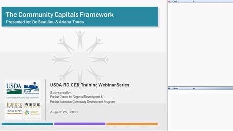 Thumbnail for entry USDA RD Training Series-Webinar #5 Community Capitals Framework