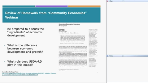 Thumbnail for entry USDA RD Training Series-Webinar #4 Community Development Approaches