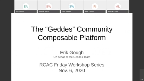 Thumbnail for entry Geddes Community Composable Platform Overview - November 6, 2020