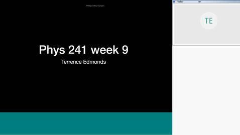phys 241 recitation 10-19-2018 week 9 - Edmonds