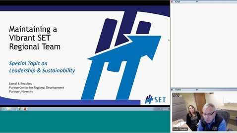 Thumbnail for entry SET-Maintaining a Vibrant SET Regional Team: Special Topic on Leadership and Sustainability