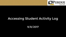 Thumbnail for entry Accessing Student Activity Log