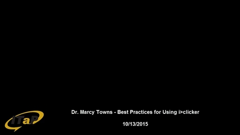 Thumbnail for entry Dr. Marcy Towns - Increasing Engagement with i>clickers