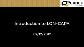 Thumbnail for entry LON-CAPA: Intro to LON-CAPA