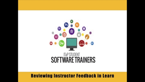 Thumbnail for entry Reviewing Feedback from Your Instructor in Blackboard