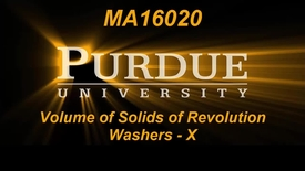 Thumbnail for entry Volume of Solids of Revolution Washers X