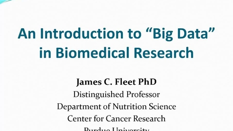 An introduction to Big Data in Biomedical Research 2018