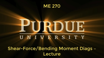 ME270 - Shear-Force Bending Moment Diags Lecture (Updated