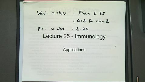 Thumbnail for entry BIOL 221 LECTURE 25A - Vaccines