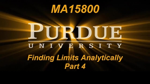Thumbnail for entry Finding Limits Analytically Part 4 MA15800