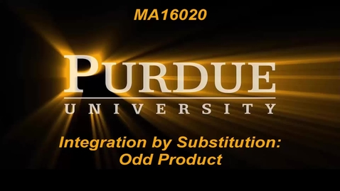 Integration by Substitution:Odd Product