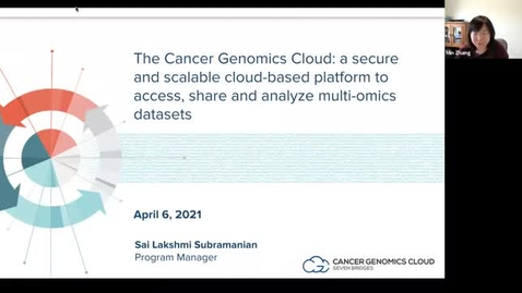 Thumbnail for entry The Cancer Genomics Cloud: a secure and scalable cloud-based platform to access with Sai Lakshmi Subramanian