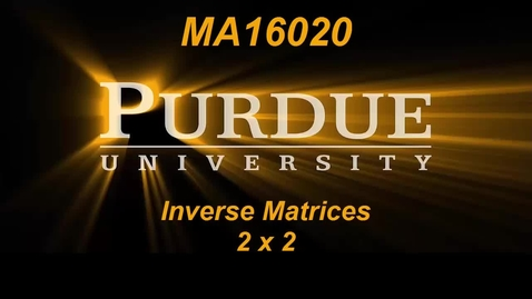 Thumbnail for entry Inverse Matrices 2 x 2