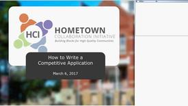 Thumbnail for entry HCI: How to Write a Competitive Application  March 6, 2017