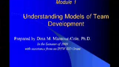 Thumbnail for entry Section 1 Team Development Models