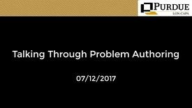 Thumbnail for entry LON-CAPA: Talking through Problem Authoring