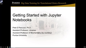 Thumbnail for entry Getting started with Jupyter notebooks
